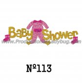 Cartel Goma Eva Ropita Baby Shower CON BRILLO x 1u.